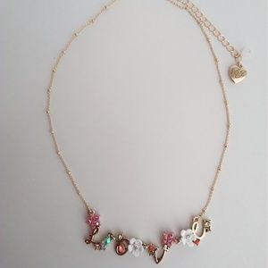 Betsey Johnson New Love Necklace